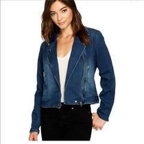 Nwot Blank Nyc Hello Moto Denim Jacket Xs Photo