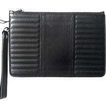Nwot Botkier Black Leather Zip Top Wristlet Wallet Clutch Credit Card Purse 88 Photo