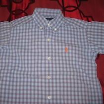 Nwot Boys' Ralph Lauren Blue Short Sleeved Shirt - Size 4 Photo