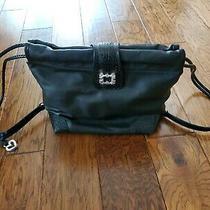 Nwot Brighton Black Leather Backpack Rare Older Style. Don't Miss Out Photo