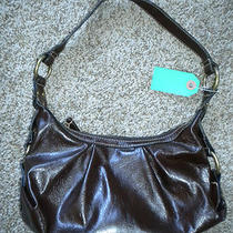 Nwot Brown Vinyl Hobo Bag/purse With Coin Purse  Photo