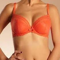 Nwot Chantelle 3641 C-Chic Sexy Lace u'wire Bra in Orange Sunset Size 30dd(65e) Photo