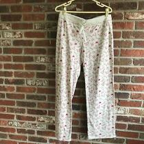 Nwot Charlotte Russe Bird/love Print Beige Red  Waist Drawstring Lounge Pants L Photo