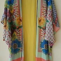 Nwot Clover Canyon Floral Scarf Chiffon Swim Coverup in Sz S Photo