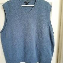 Nwot Club Room Xl Mens Blue Lambs Wool Vest Photo
