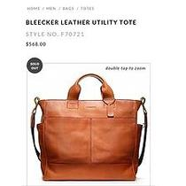 Nwot Coach Bleeker Leather Utility Tote Cognac/rust Men's Messenger Bag Photo