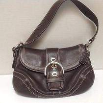 Nwot Coach Brown Leather Small Shoulder Bag. Photo