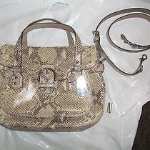 Nwot Coach Campbell Leather Exotic Flap Satchel  27695   Photo