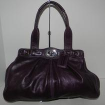 Nwot Coach Garnet 13914 Purple Plum Purse Satchel Handbag Leather Photo