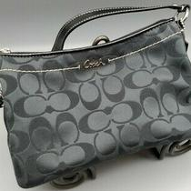 Nwot  Coach Gray Signature Wristlet Bag Purse Clutch Patent Leather Photo