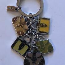 Nwot Coach Handbag Multi Mix Purse Charms Keychain Key Ring Key Fob Multicolor Photo