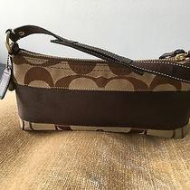 Nwot Coach Large Wristlet Purse Canvas With Intricate Detail- Genuine Original Photo
