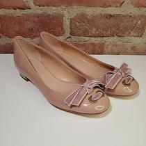 Nwot Coach Lia Ballet Velvet Bow Patent Leather Pink Flats in Blush 6 Photo