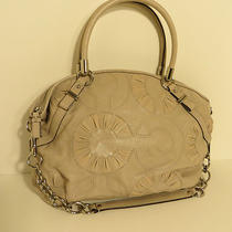 Nwot Coach Madison Sophia Embellish Leather Satchel Tote Bag Putty Beige 16343 Photo