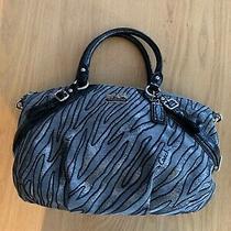Nwot-Coach Madison Sophia Luxe Silver/zebra Print Satchel Handbag Purse-15925 Photo
