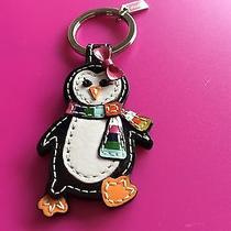 Nwot Coach Patent Leather Multi-Color Penguin Key Ring/ Fob 93014 Photo