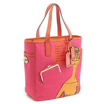 Nwot Coach Tote Handbag in Pink/orange 13379 Photo