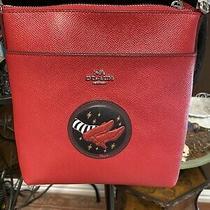 Nwot Coach X the Wizard of Oz Red Ruby Slippers Kitt Crossbody Bag Photo