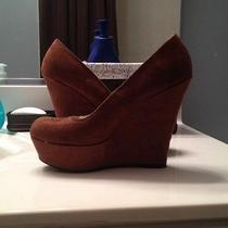 Nwot Cognac Suede Shoes Photo