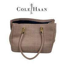 Nwot Cole Haan Blush Color Woven Handbag Photo