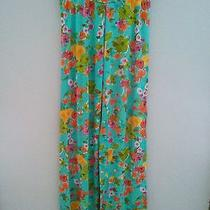 Nwot Cosabella Aqua Multicolor Summer Floral Silky Smooth Stretch Lounge Pants M Photo