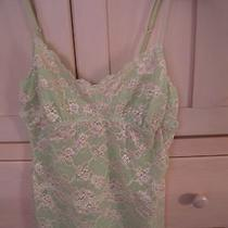 Nwot Cosabella Lace Cami Green With Pink Floral Lace M Photo
