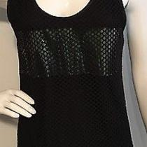 Nwot Costume National Costumenemutsoc Black Mesh Tank / Size 40 (Retail 148) Photo