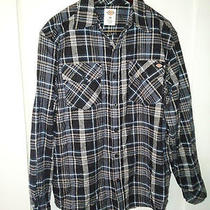 Nwot Dickies Heavy Cotton Flannel Long Sleeved Shirt Size Medium Free Shipping  Photo