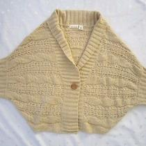 Nwot Dkny Jeans Cable Knit Dolman Collared Cardigan Sweater  Cream  Size M Photo