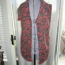 Nwot Dolan for Anthropologie Black & Red Knitted Vest W/ Pockets Size Small Photo