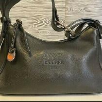 Nwot Dooney & Bourke Black Pebbled Leather Hobo Shoulder Bag Tote Purse  Photo