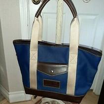 Nwot Dooney & Bourke Blue Leather Tote Bag Turn 2 Foundation Jeter Photo