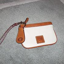 Nwot Dooney & Bourke Cream Pebble Leather Wristlet and Key Fob Photo