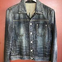 Nwot Earnest Sewn Men's 100% Cotton Blue Denim / Jean Jacket Sz M Photo