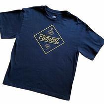 Nwot Element Brand Clothing Navy Tshirt Top Boys Sz L Large Youth Yl Skateboard Photo