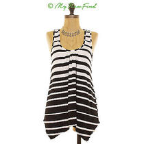 Nwot Ella Moss Sleeveless Nova Racerback Striped Black White Tank Top S B2 Photo