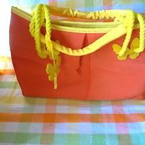 Nwot Escada Butterfly Summer Purse - Orange and Yellow Photo