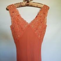 Nwot Express 100% Silk Womens Summer Pink Apricot Sleeveless Festive Dress Sz 0 Photo
