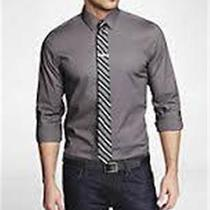 Nwot Express 1mx Cast Iron Extra Slim Fit Men's Dress Shirt Sz Xs- Photo
