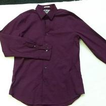 Nwot Express 1mx Mystic Purple Fitted Dress Men's Shirt Sz Xs Photo