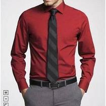 Nwot Express 1mx Red Fitted Men's Dress Shirt Sz M- Photo