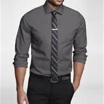 Nwot Express 1mx Steel Modern Fit Men's Dress Shirtsz Xs Photo