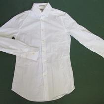 Nwot Express 1mx White Extra Slim Fit Dress Men's Shirt Sz S Photo
