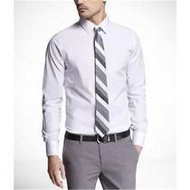Nwot Express 1mx White Modern Fit Men's Dress Shirt Sz M- Photo