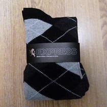 Nwot Express Argyle Men's Dress Socks 8-12- Photo