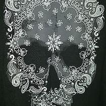 Nwot Express Bandana Skull Men's Graphic Tee Sz S- Photo