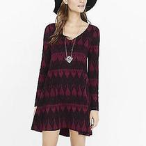 (Nwot Express Berry Southwester Print Trapeze Dress Sz s) Photo