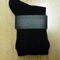 Nwot Express Black Men's Dress Socks Sz 8-12- Photo