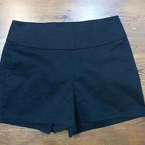 Nwot Express Black Wide Waistband Shorts Sz 6 Photo