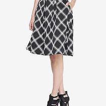 Nwot Express  Black Windowpane Plaid Full Midi Skirt Sz 0 Photo